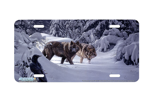 "Airstrike® Wolf License Plate 8271-""On Common Ground""-Wolves License Plate"
