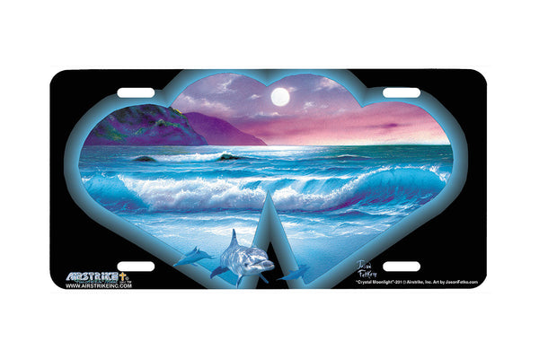 "Airstrike® 231-""Crystal Moonlight"" License Plate"