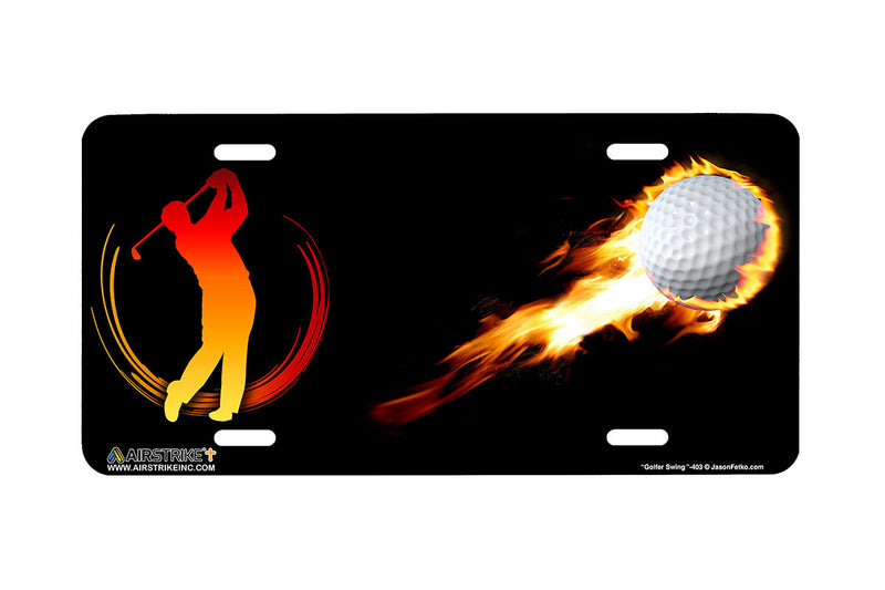 "Airstrike® 403-""Golfer Swing"" Golf License Plates"