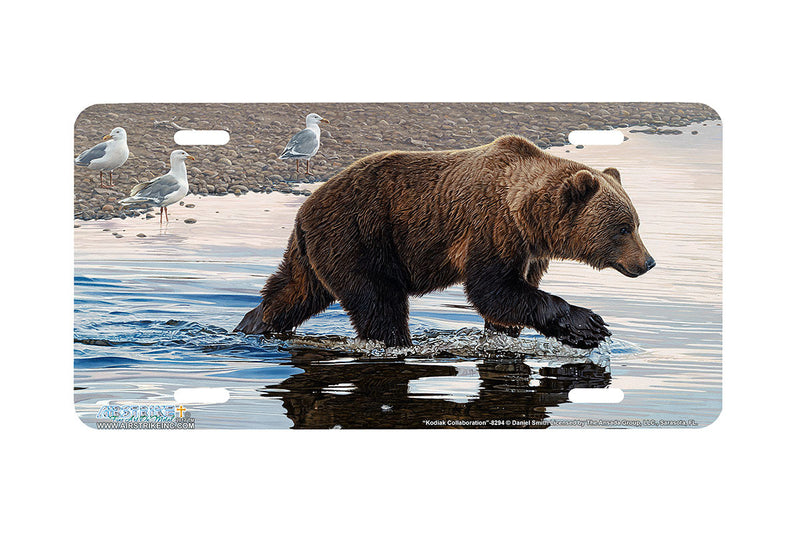 "Airstrike® 8294-""Kodiak Collaboration""-Grizzly Bear License Plate"