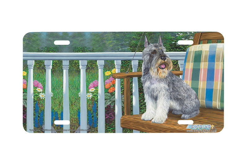 "Airstrike® 5385-""Spring Swing"" Schnauzer Dog License Plate"