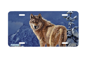 "Airstrike® 8322-""Cold Stare""-Wolf License Plate"