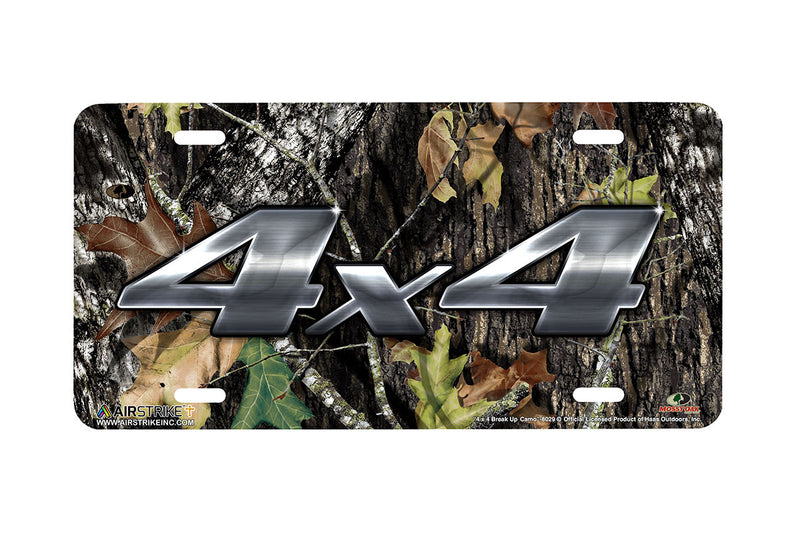 "Airstrike® Mossy Oak License Plate 8029-""4 x 4 Break Up Camo""-Mossy Oak Camo Hunting License Plate"