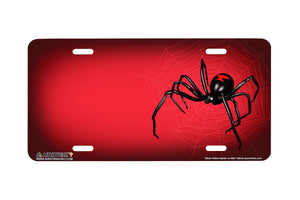 "Airstrike® 569-""Black Widow Spider on Red"" License Plate"