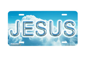 "Airstrike® Christian License Plate 238-""Jesus"" License Plate"