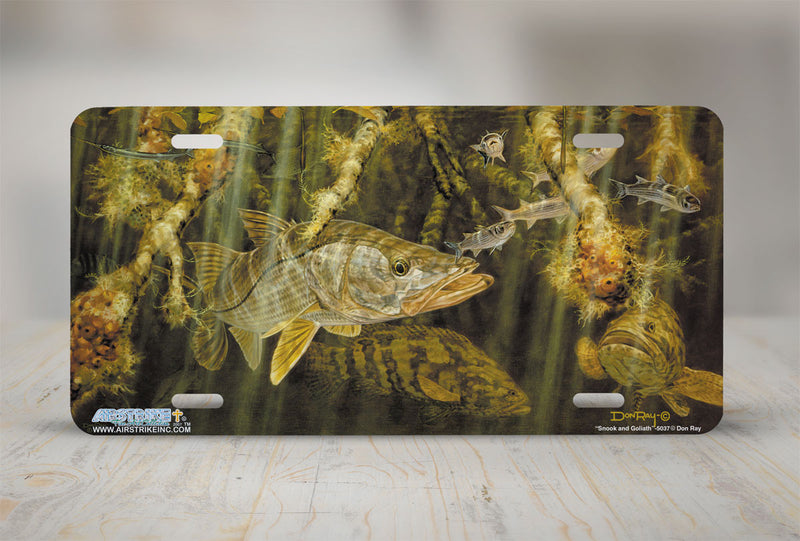 "Airstrike® Fishing License Plates 5037-""Snook and Goliath"" License Plate"