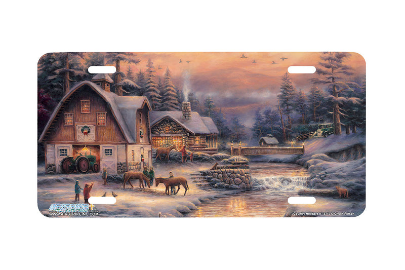 "Airstrike® 3712-""Country Holidays II""-Farm License Plate"