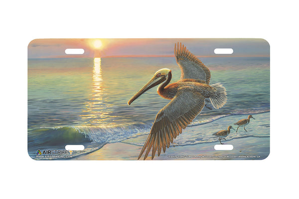 "Airstrike® 5389-""Evening Traffic"" Pelican Beach License Plate"