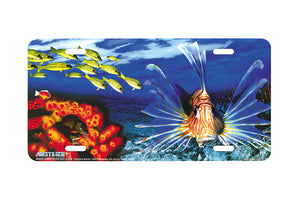 "Airstrike® Lionfish License Plate 224-""Lionfish Banks"" License Plate"