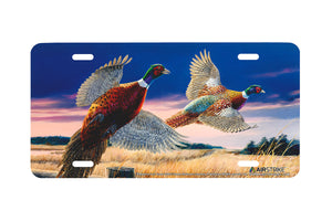 "Airstrike® 5297-""Pheasants Over Grass"" License Plate"