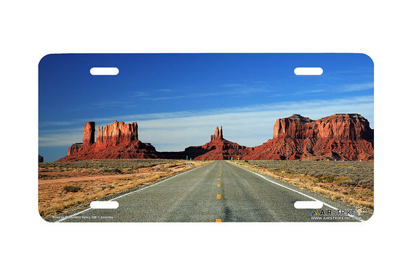 "Airstrike® 258-""Road to Monument Valley"" Butte License Plates"