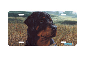 "Airstrike® 5341-""Field Day"" Rottweiler Dog License Plate"