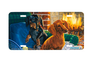 "Airstrike® 5348-""The Net Set"" Dachshund Dog License Plate"
