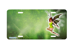 "Airstrike® 419-"" Green Forest Fairy"" Fairy License Plates"