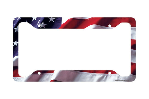 Airstrike® American Flag License Plate Frame, American Flag License Plate Holder, American Flag Frame-30-235