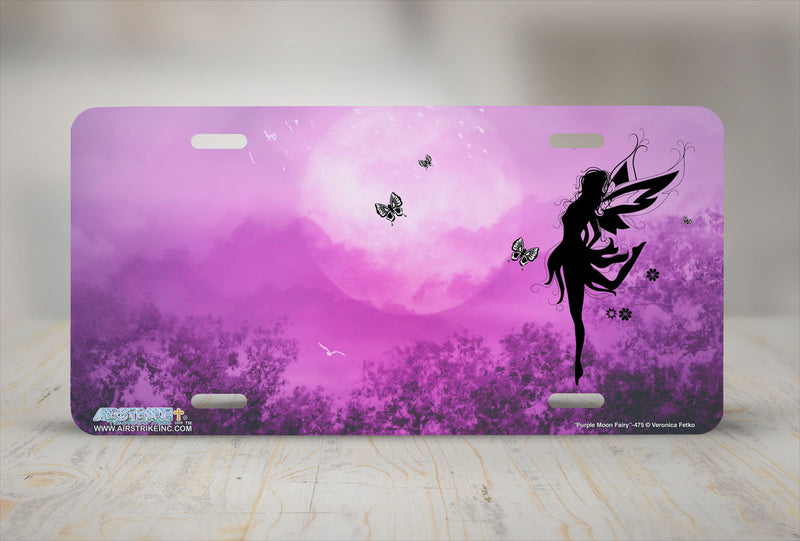 "Airstrike® 475-""Purple Moon Fairy""-Fairy License Plates"