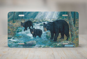 "Airstrike® 5250-""Bear Feet in the Creek"" License Plate"