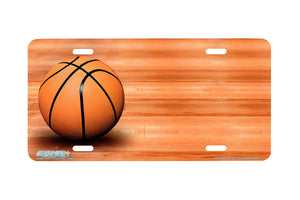 "Airstrike® 395-""Basketball on Court"" Basketball License Plates"