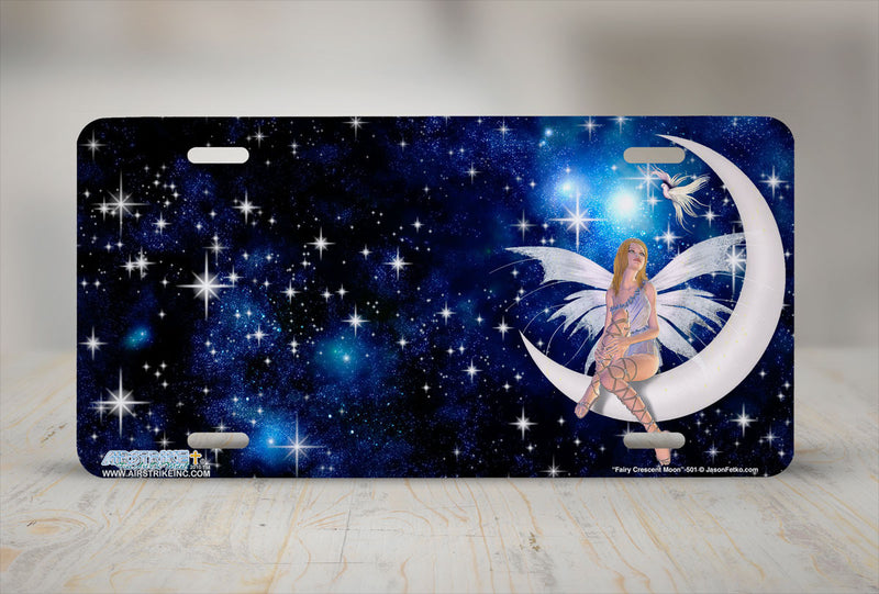 "Airstrike® 501-""Fairy Crescent Moon"" Fairy License Plate"
