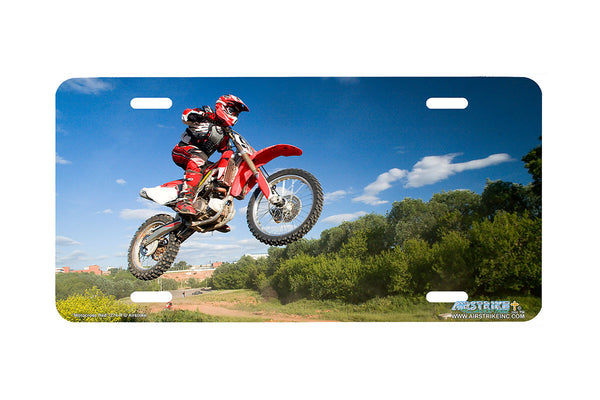 "Airstrike® 274-R-""Motocross Red"" Motocross License Plates"