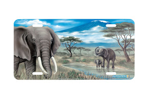 "Airstrike® 220-""Elephants of Kilimanjaro"" License Plate"