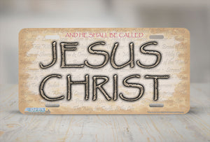 "Airstrike® Christian License Plate 560-""Names of Jesus Christ""-Christian License Plate"