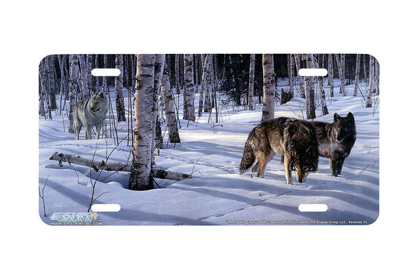 "Airstrike® Wolf License Plate 8269-""When Paths Cross""-Wolves License Plate"