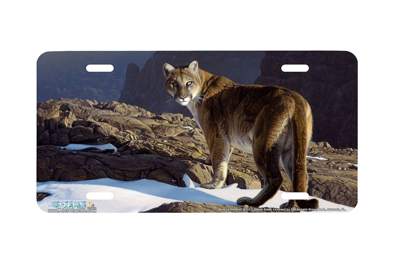 "Airstrike® 8312-""Skirting the Rim""-Cougar License Plate"