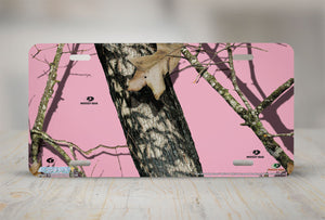 "Airstrike® Pink Mossy Oak Car Accessories 8013-""Pink Break Up Camo""-Pink Mossy Oak License Plate"