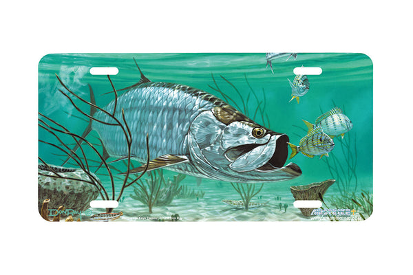 "Airstrike® Fishing License Plates 5017-""Marquesas Keys Tarpon"" License Plate"