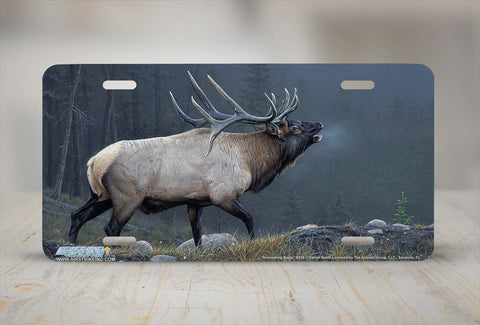 "Airstrike® 8239-""Resonating Bugle""- Elk License Plate"