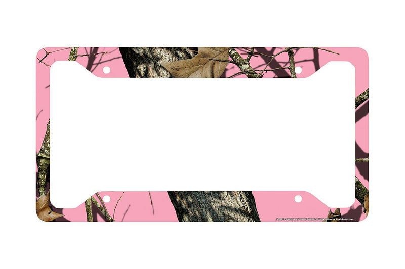 Airstrike® Pink Camo License Plate Frame, Mossy Oak Car Tag Frame, Camo License Plate Holder, Pink Break Up Camo Mossy Oak License Plate Frame-30-8013