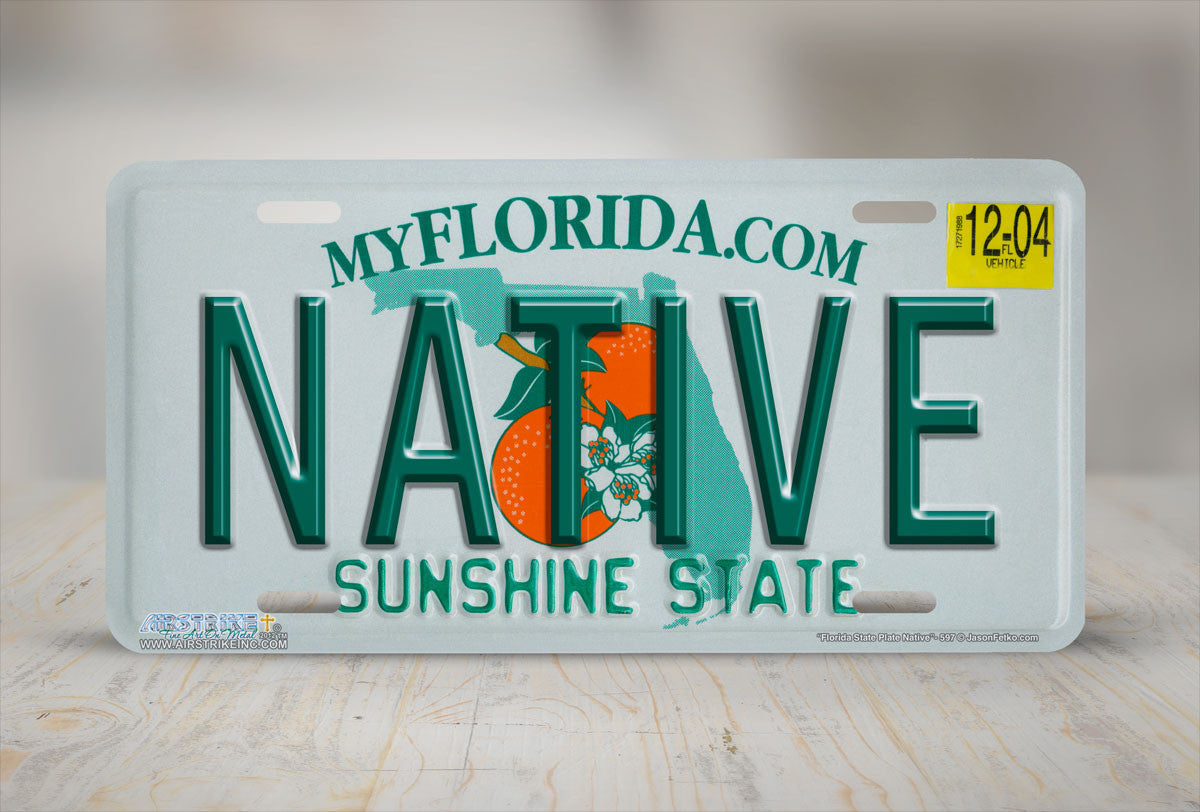 Airstrike 174 597 Quot Florida State Plate