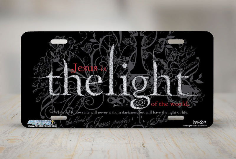 "Airstrike® Christian License Plate 7207-""The Light""-Christian License Plate"