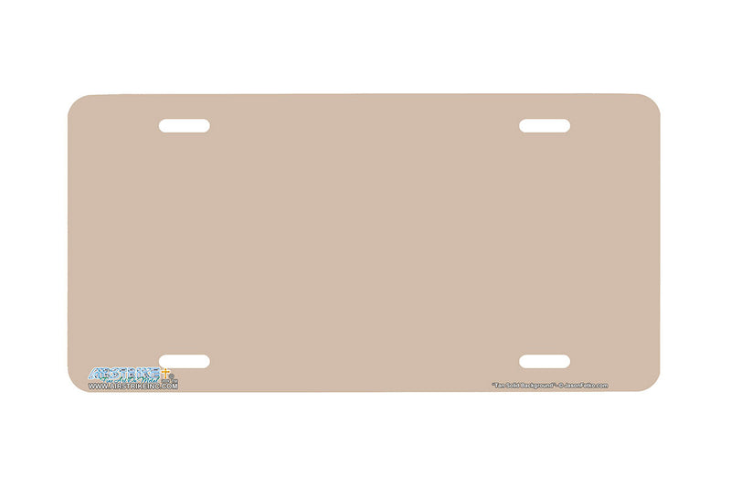 "Airstrike® 423-""Tan Solid Background"" Tan Background License Plates"