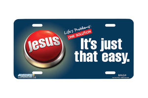 "Airstrike® Christian License Plate 7206-""Just that Easy""-Christian License Plate"