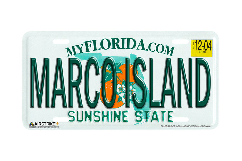 "661-""Florida State Plate Marco Island""-License Plate"