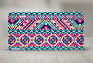 "Airstrike® 657-""Aztec Tribal Print"" Plain Pattern License Plate"