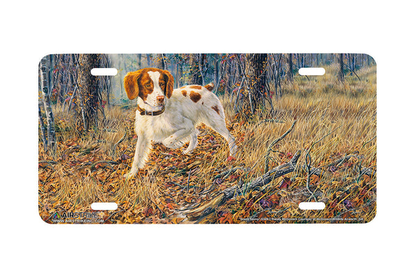 "Airstrike® 5349-""Scent Savvy"" Brittany Spaniel Dog License Plate"