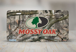 "Airstrike® Mossy Oak License Plate 8005-""Treestand Logo""-Mossy Oak Camo License Plate"