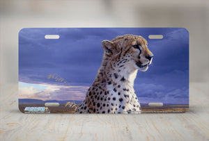 "Airstrike® 8237-""African Tempest""- Cheetah License Plate"