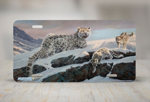 "Airstrike® 6535-""Lucky Number""-Snow Leopard License Plate"