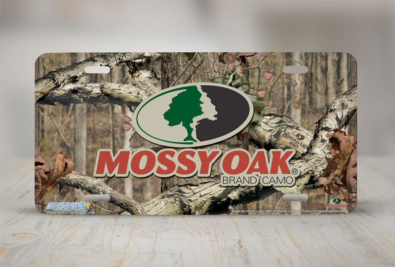 "Airstrike® Mossy Oak License Plate 8001-""Break Up Infinity Logo""-Mossy Oak Camo License Plate"