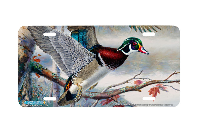 "Airstrike® 5240-""Lakeside Wood Ducks"" License Plate"