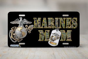 "Airstrike® Marine Mom License Plate Marine Corps License Plate ""Marines Mom""-469"