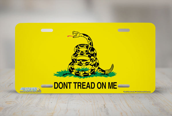 Airstrike® Don't Tread on Me License Plate Gadsen Flag License Plates-444