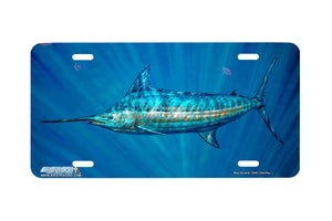 "Airstrike® Fishing License Plates 5043-""Blue Serenity"" Marlin License Plate"