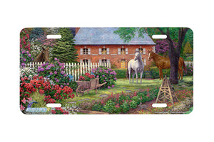 "Airstrike® 3726-""The Sweet Garden""-Horse License Plate"