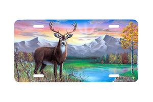 "Airstrike® 204-""White Tail Buck"" License Plate"