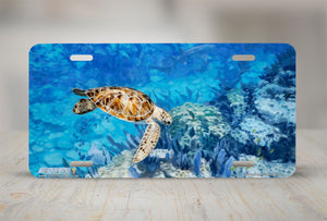 "Airstrike® Sea Turtle License Plate 5063-""Hawksbill Reef""-Sea Turtle License Plate"